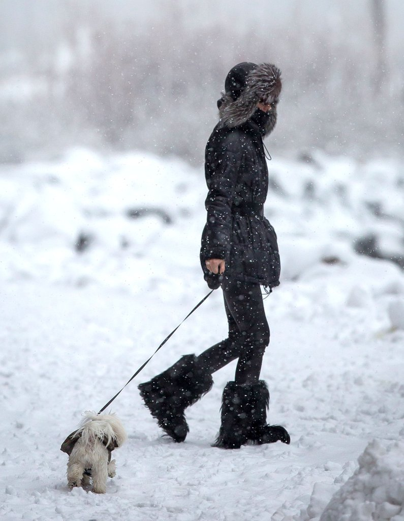 Olivia Palermo And The Snow 3