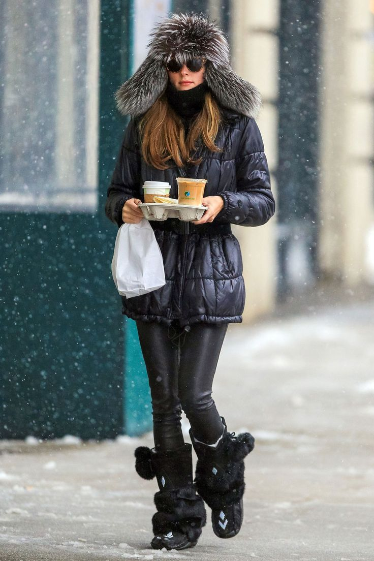 Olivia Palermo And The Snow 5