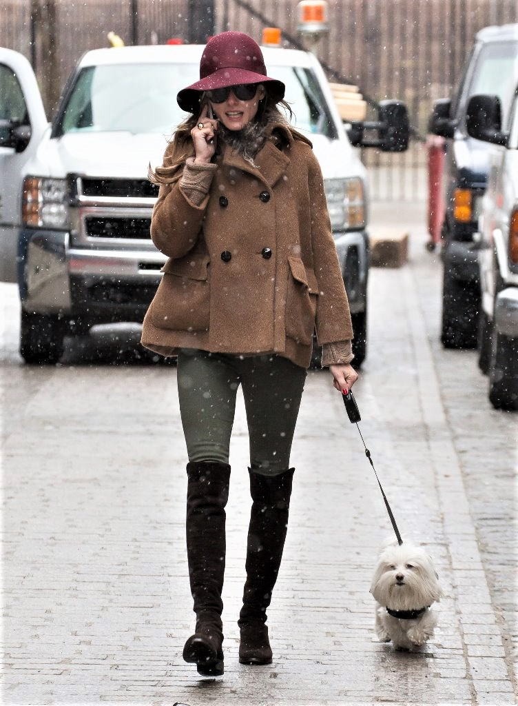 Olivia Palermo And The Snow 6
